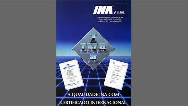 Em auditoria feita pela TÜV, a Rolamentos Schaeffller conquista a Certificação ISO 9001.