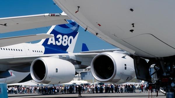 Aplicações comerciais: Airbus A380