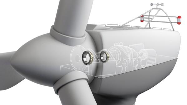 Soportes separados - Rodamiento para el eje del rotor