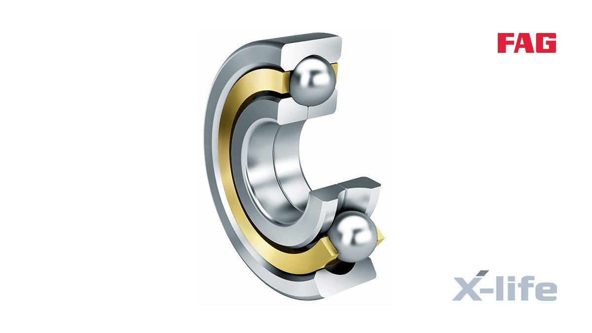 Rolamentos e casquilhos de fricção Schaeffler: Rolamentos com quatro pontos de contacto
