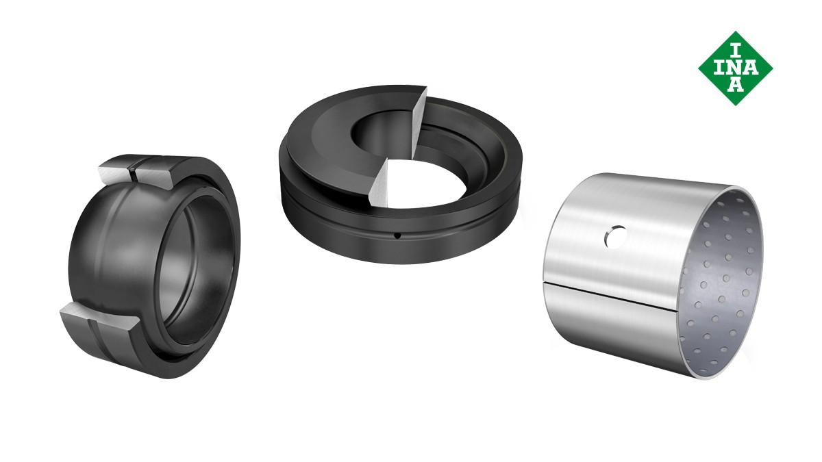Rolamentos e casquilhos de fricção Schaeffler: Casquilhos de fricção que requerem manutenção