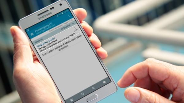 Los operadores de maquinaria reciben una notificación por email via el servicio digital